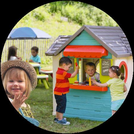 Casinhas e tendas de brincar