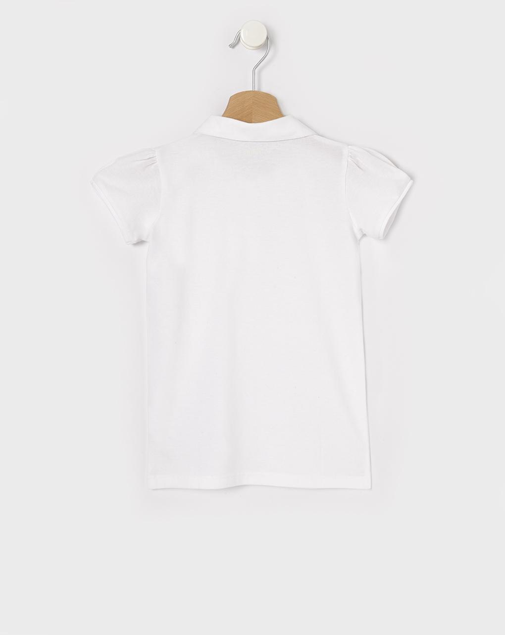 Camisa polo básica de manga curta em cor sólida - Prénatal