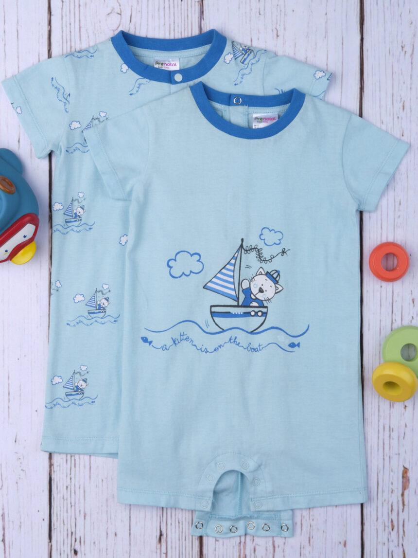 """Pacote de 2 pijamas de bebê """"gato do mar"""" - Prénatal"""