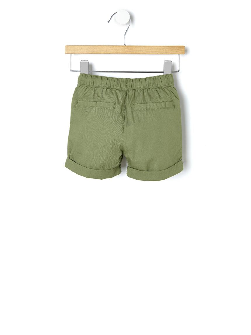 Shorts de popeline de cor sólida - Prénatal