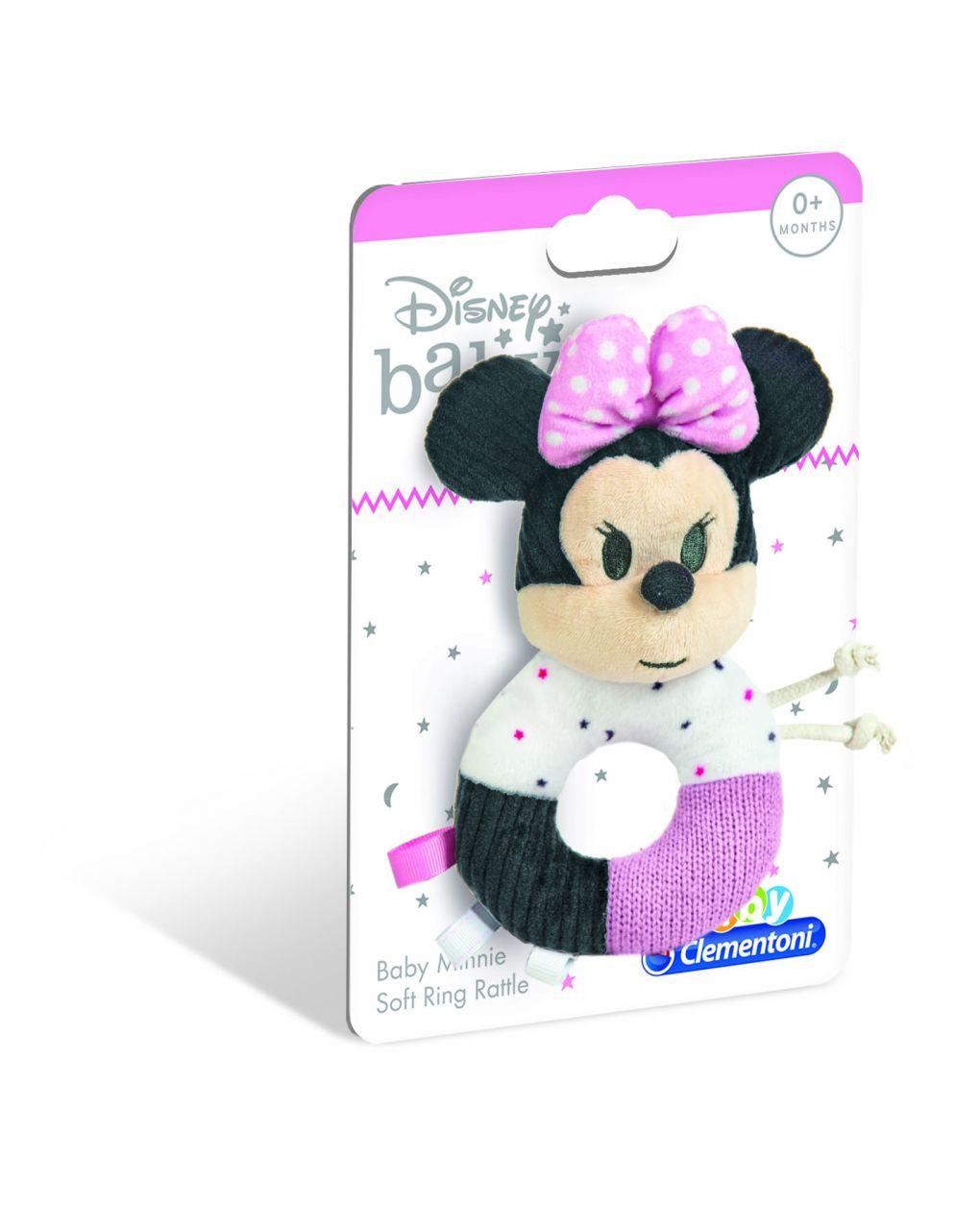 Disney baby - anel de chocalho macio minnie baby - Clementoni