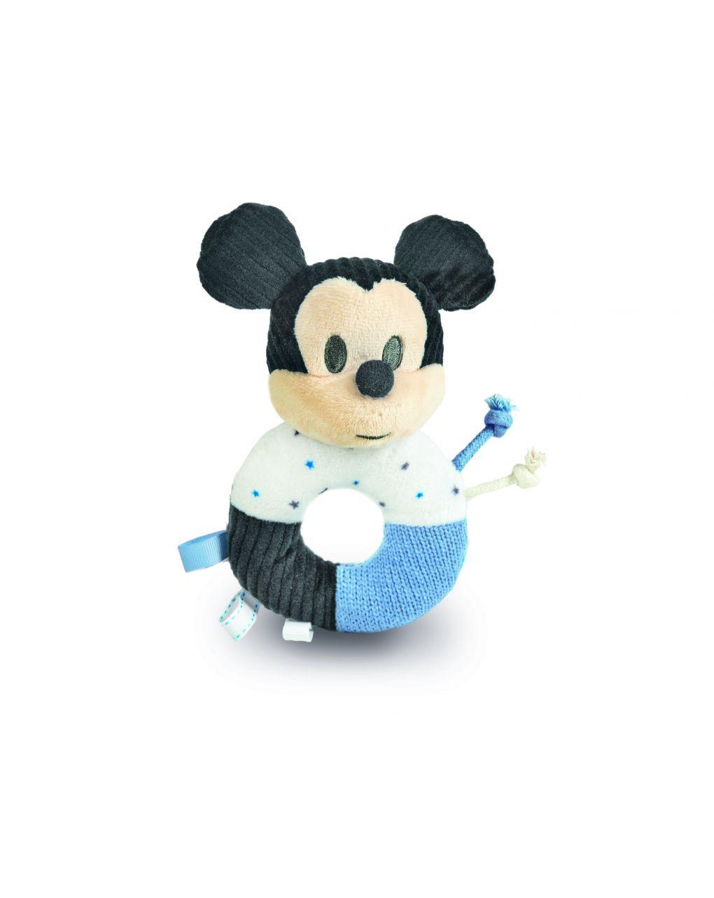 Bebê disney - anel de chocalho macio mickey bebê - Clementoni