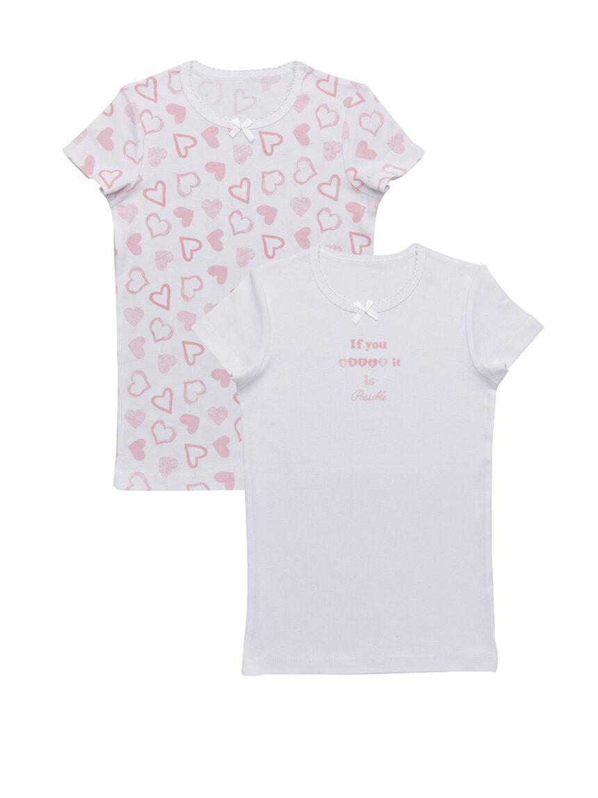 Pacote de 2 camisetas com estampa de corações - Prénatal