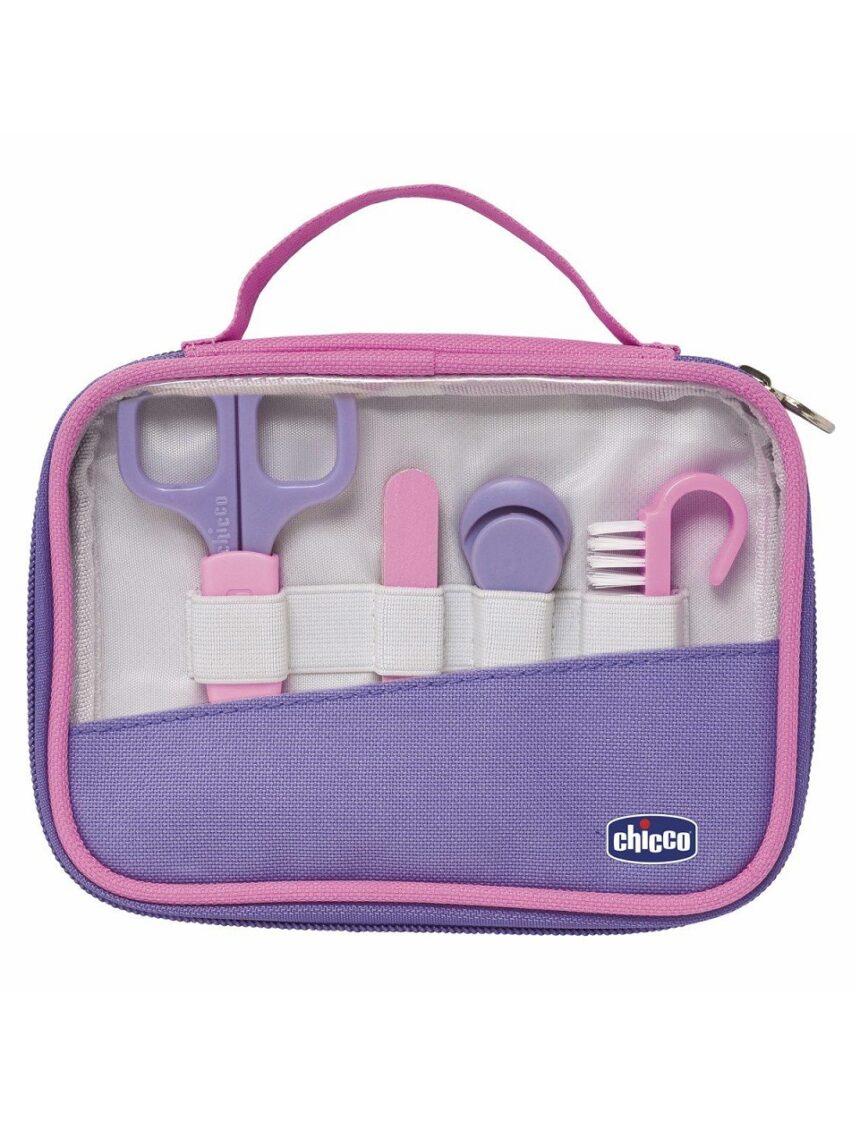 Conjunto de higiene happy hands - rosa - Chicco