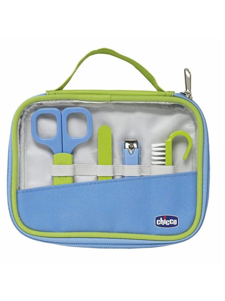 Conjunto de higiene das mãos feliz - azul claro - Chicco