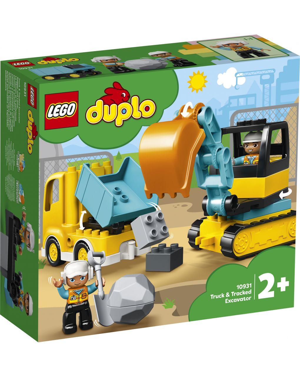 Duplo - escavadeira sobre esteiras e caminhões - 10931 - LEGO Duplo