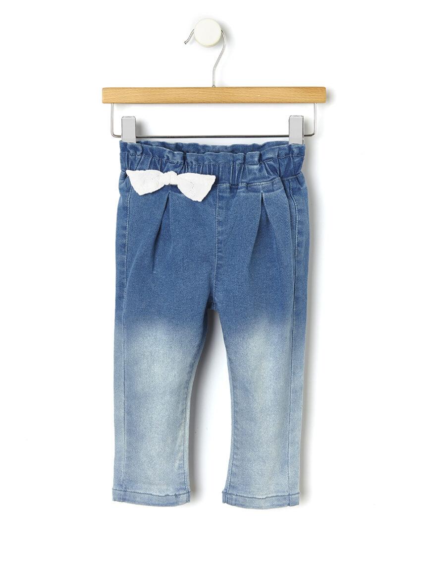 Calça jeans desbotada - Prénatal