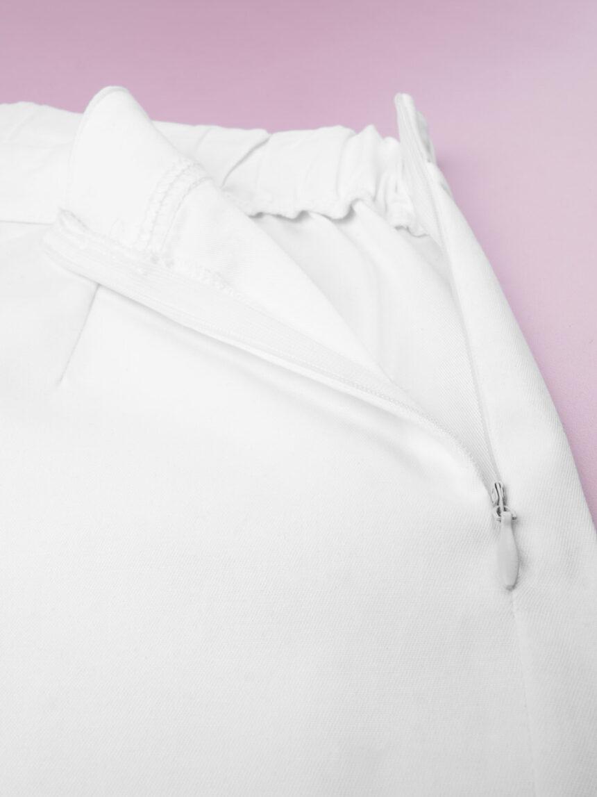 Calças brancas com perna larga - Prénatal