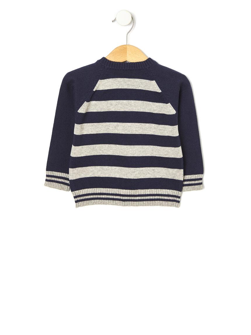 Suéter tricot marinho - Prénatal