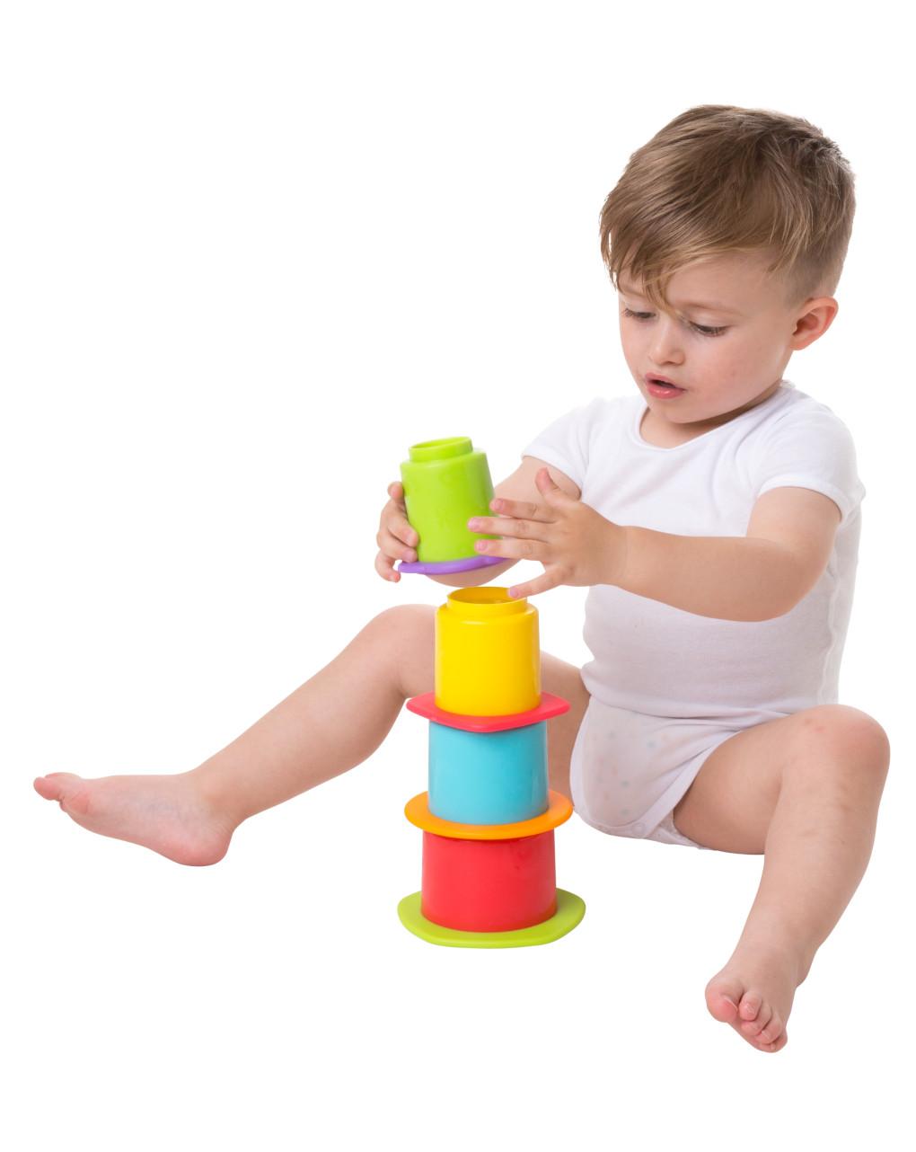 Playgro - pilha em borracha e xícaras de ninho - Playgro