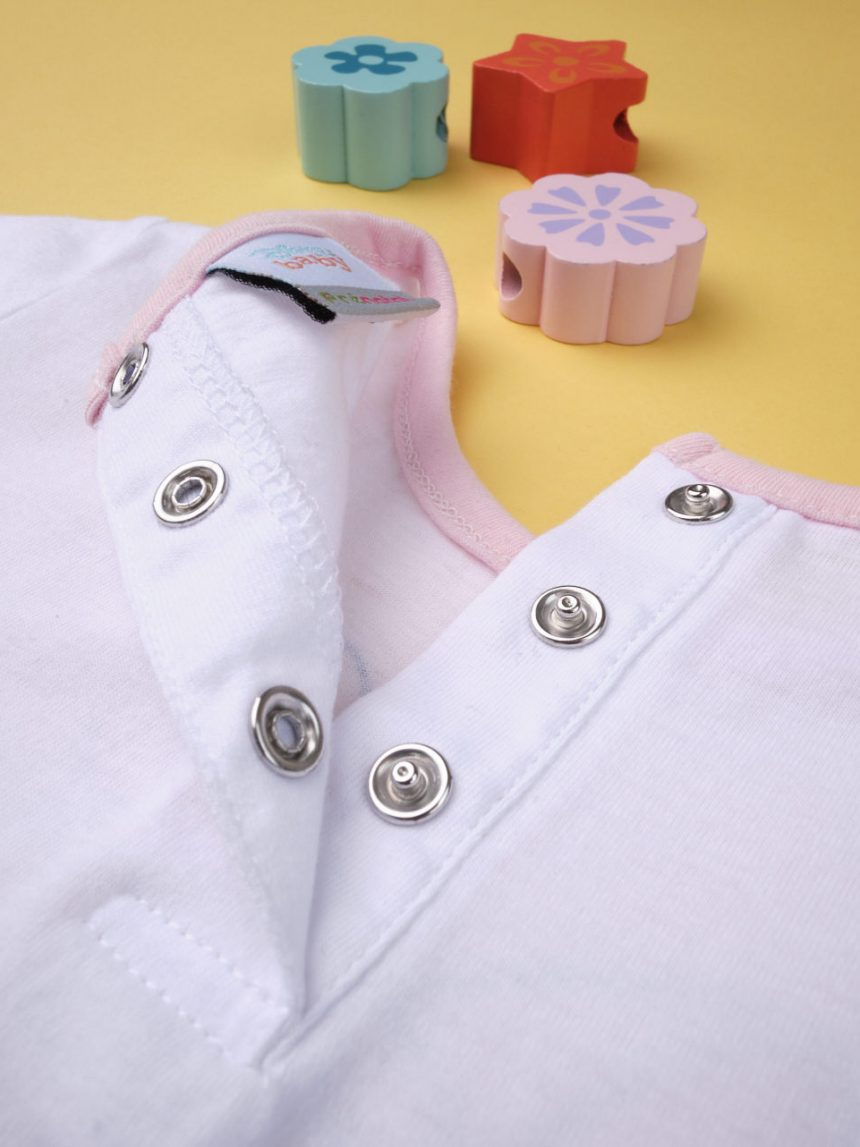 "Camiseta de menina ""gato rosa"" - Prénatal"