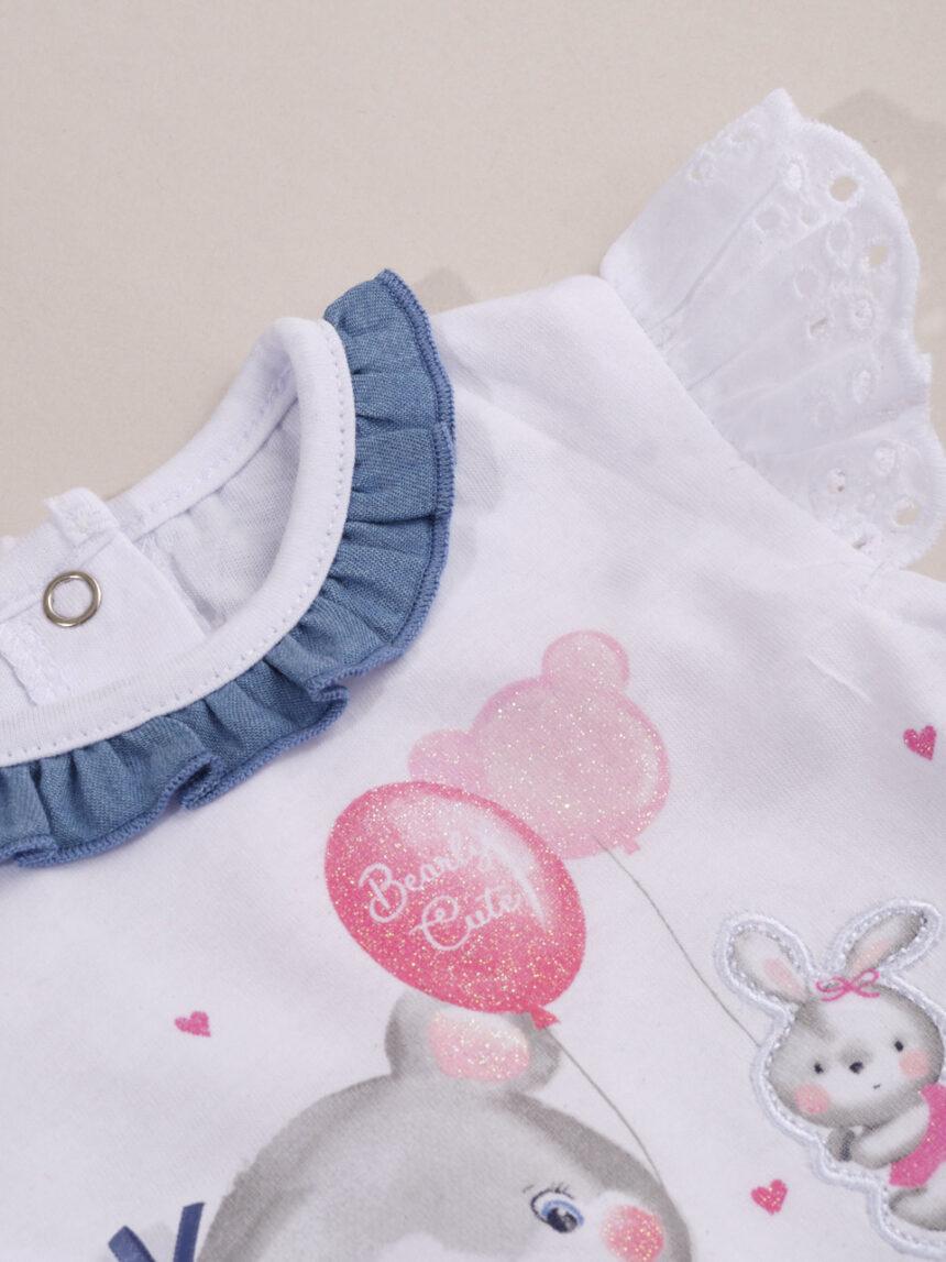 Roupa de menina com saia jeans azul - Prénatal