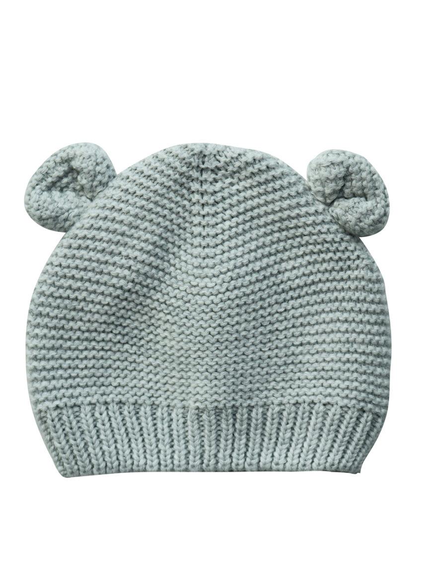Chapéu tricot cinza com orelhas - Prénatal