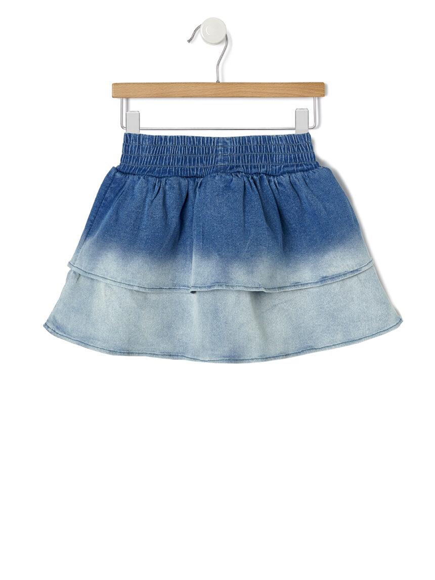 Saia jeans com babados - Prénatal