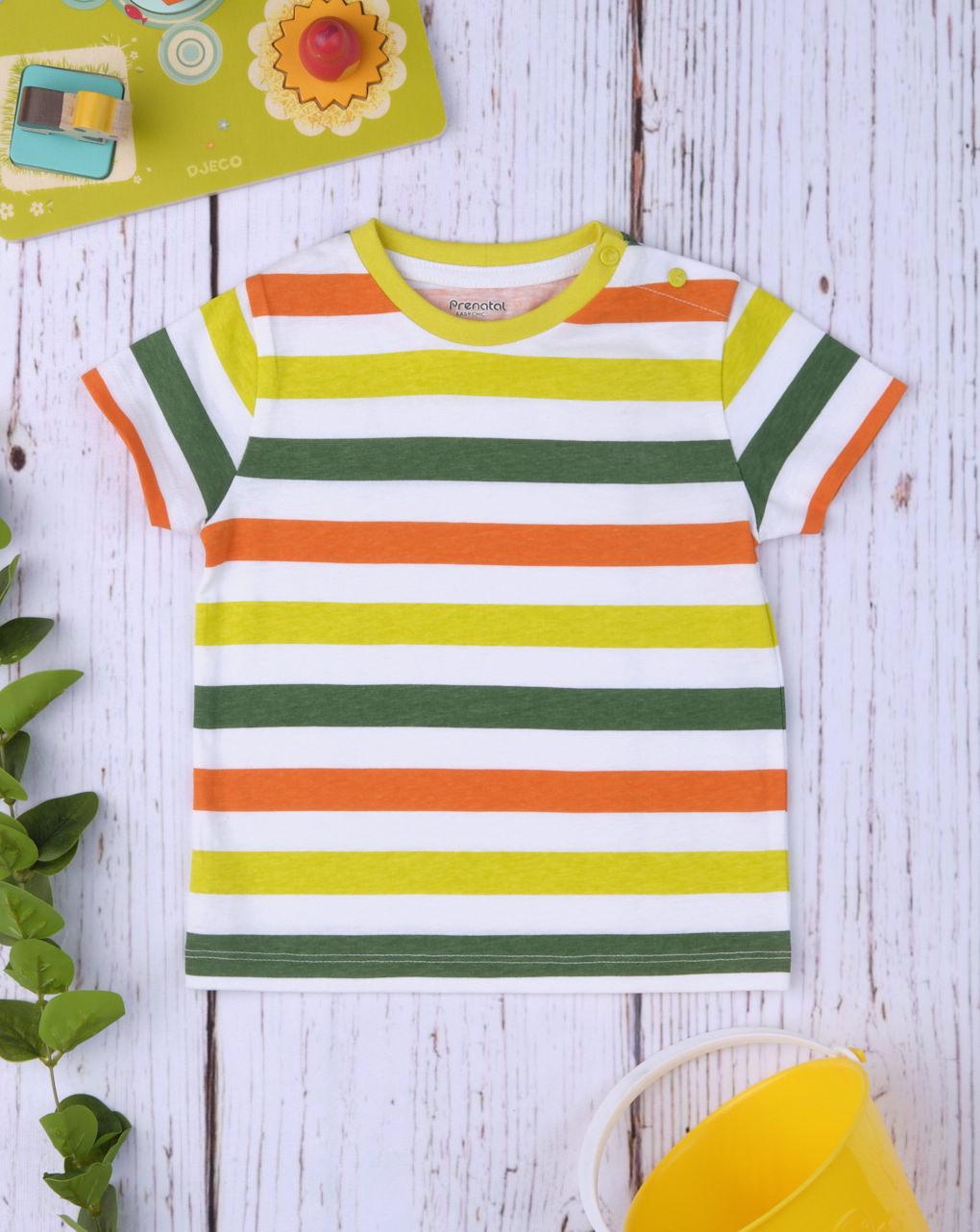 """Camiseta masculina """"verde e amarela"""" - Prénatal"""