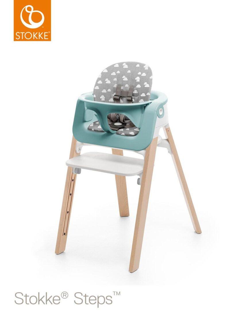 Conjunto de bebê cuscino stokke® steps - nuvens cinzentas - Stokke