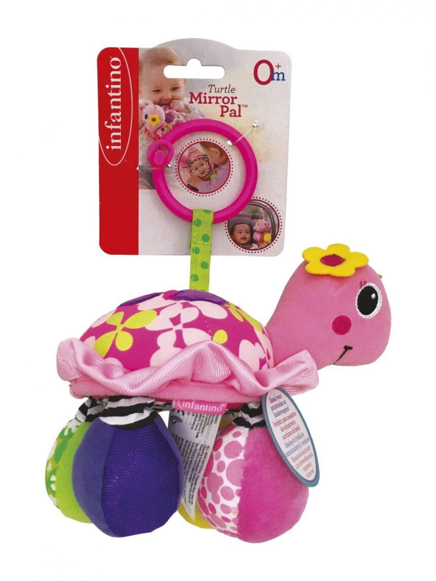 Infantino - chocalho de tartaruga rosa - Infantino