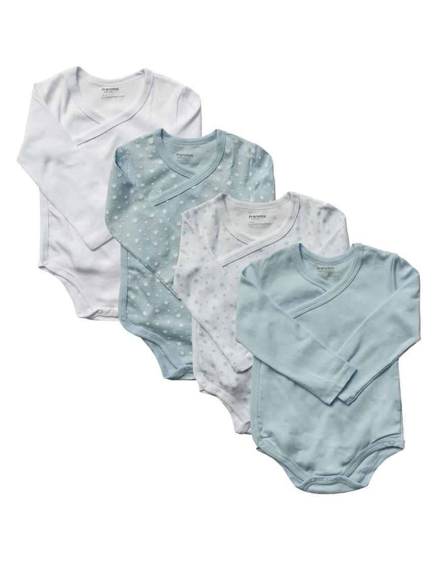 Pacote x5 corpo manica lunga menino - Prénatal