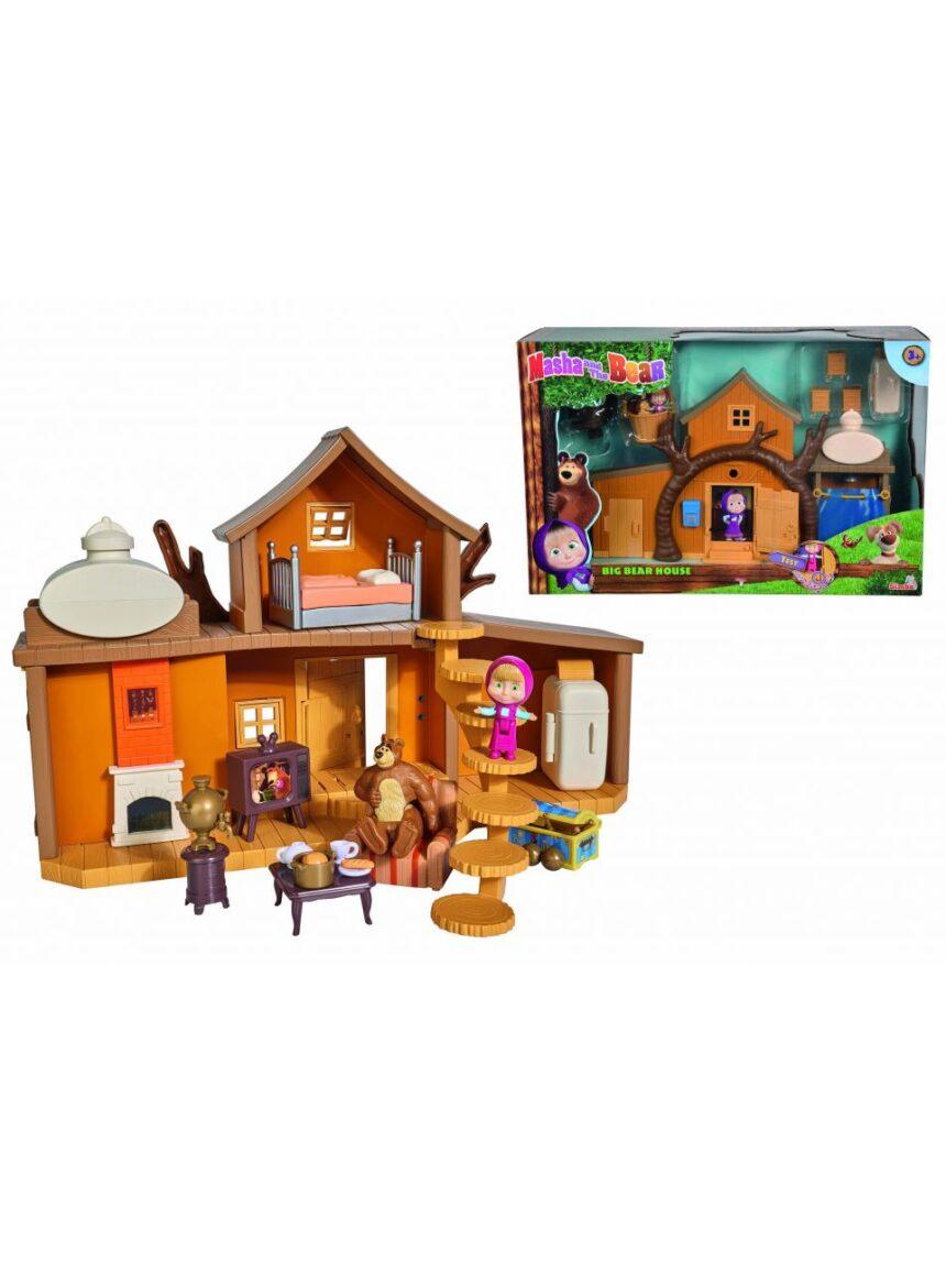 Masha e o urso - grande casa de urso com personagens - Masha & Orso