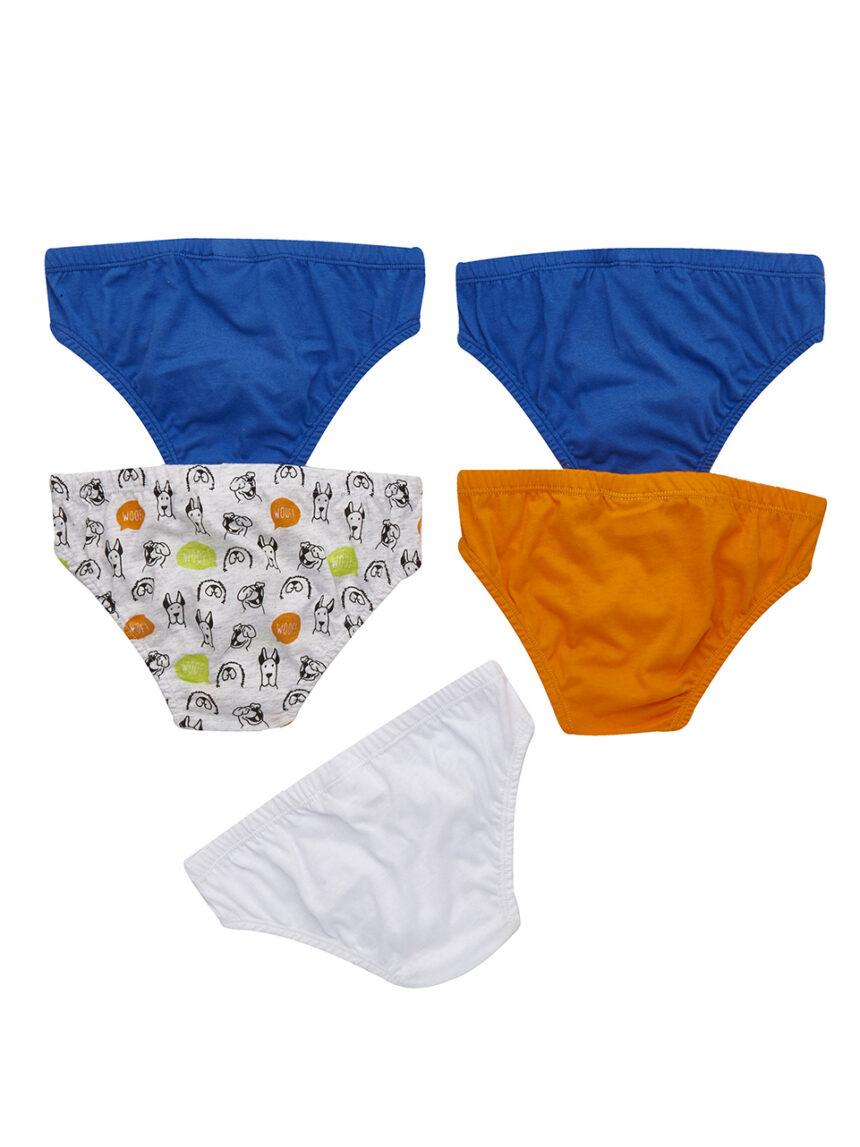 Pacote de 5 pares de cuecas estampadas - Prénatal