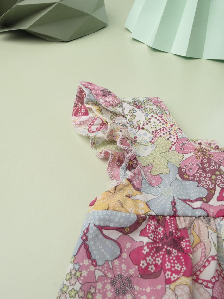"""Vestido infantil """"flor doce"""" em tecido liberty - Prénatal"""