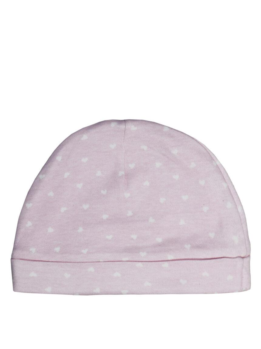 Chapéu rosa com estampa de corações - Prénatal