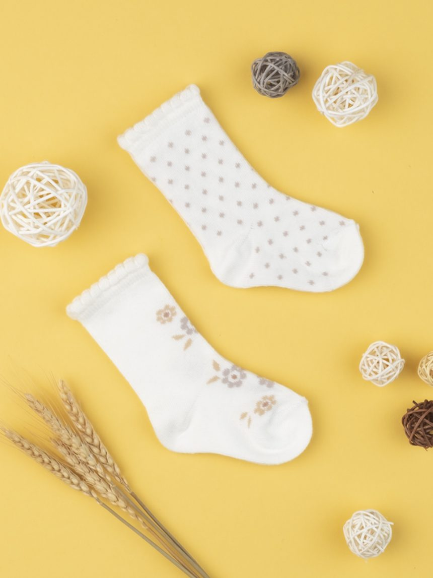 Pacote de 2 meias de bebê creme - Prénatal