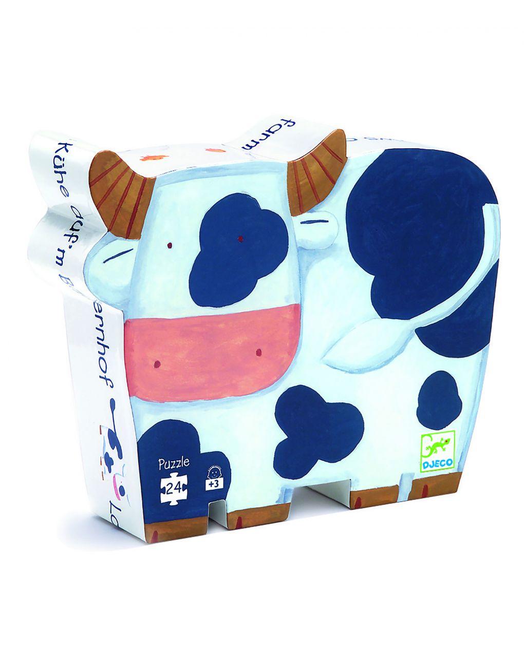 Djeco - as vacas da fazenda 24 pcs - quebra-cabeça sagomato - Djeco