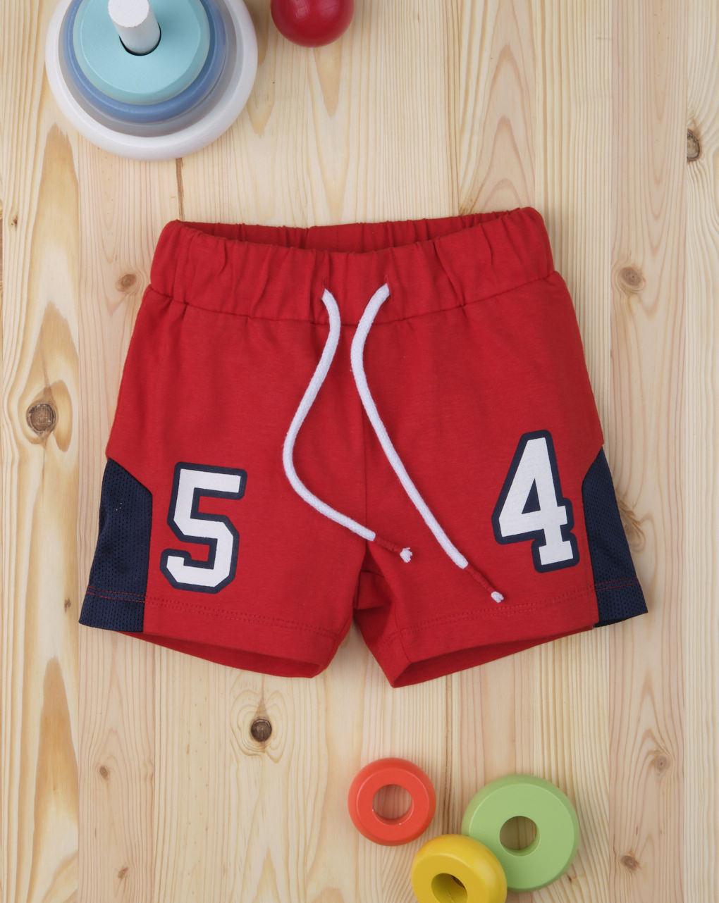 "Shorts bimbo esporte ""54"" - Prénatal"