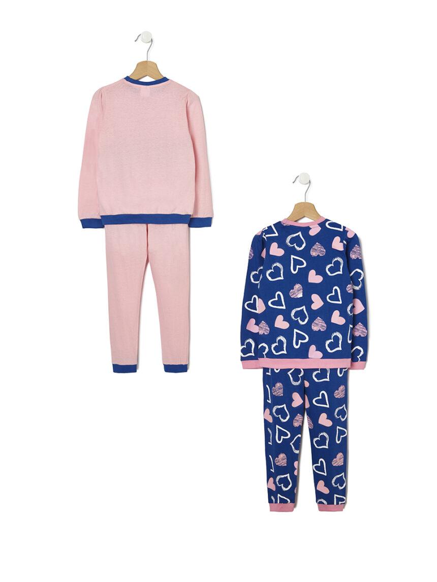 Pacote de 2 pijamas com estampa de coração - Prénatal