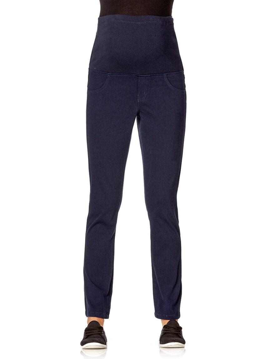 Calça de sarja elástica azul - Prénatal