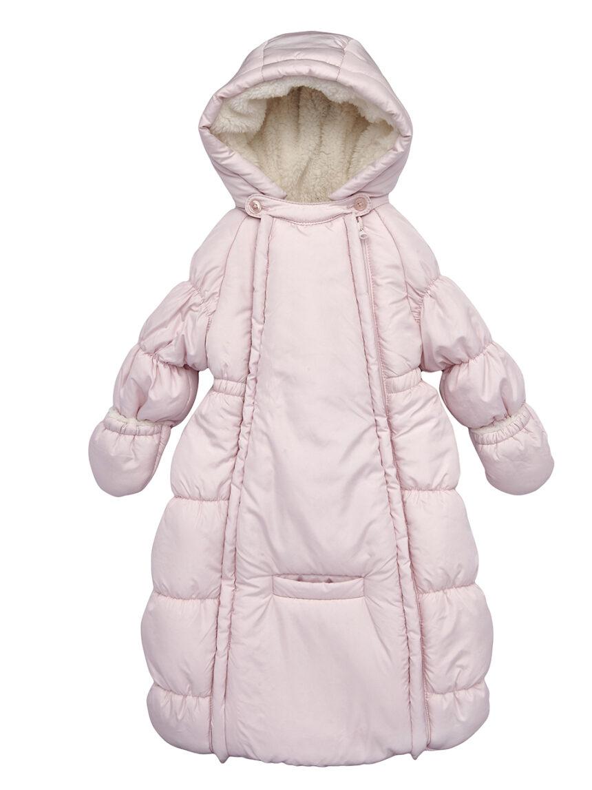 Saco de dormir rosa claro com pele sintética creme - Prénatal
