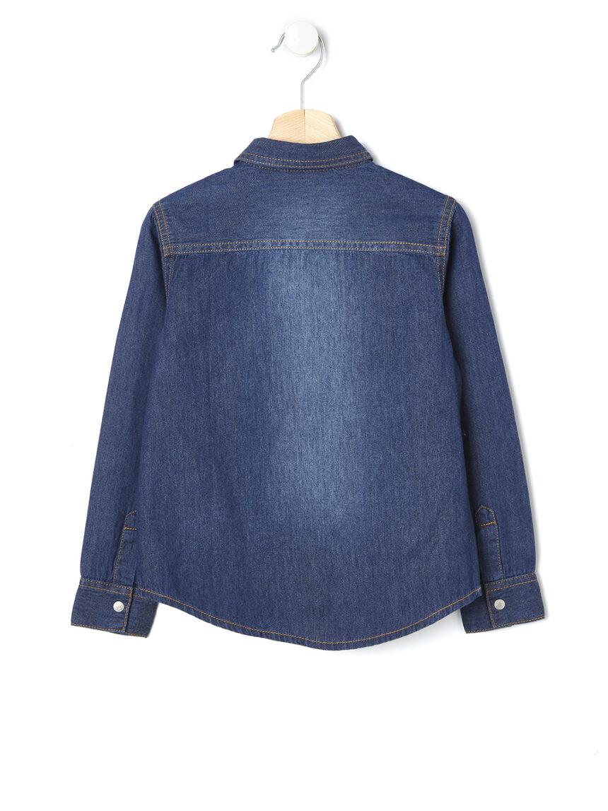 Camisa jeans escura - Prénatal