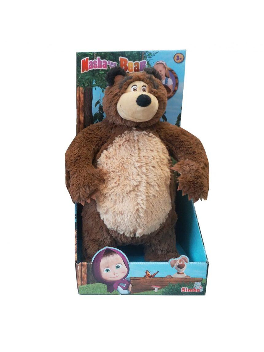 Masha e urso - urso de pelúcia masha cm.40 no trono - Masha & Orso