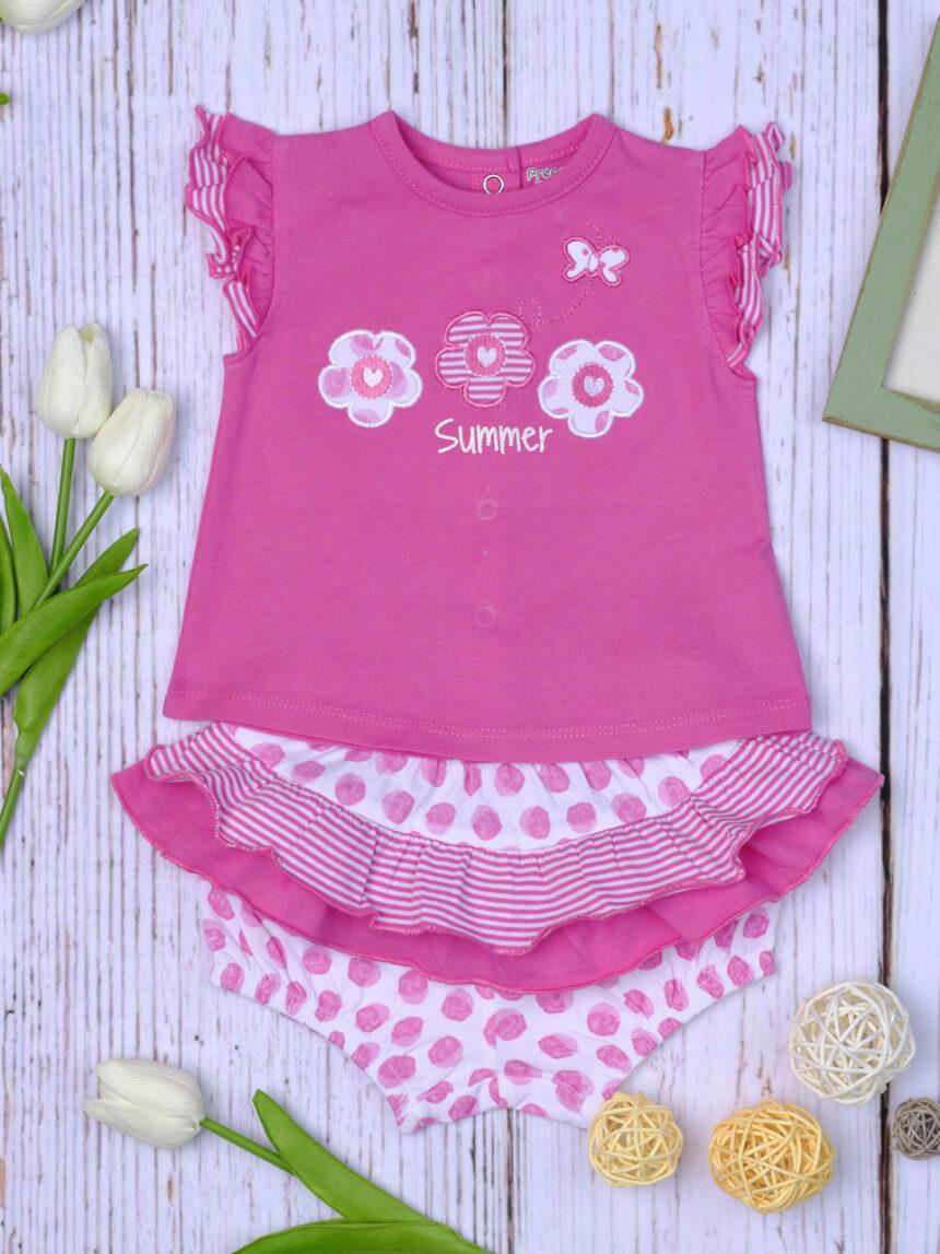 Completo jersey pink a pois - Prénatal