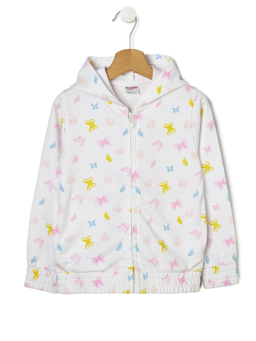 Cardigan de lã com estampa de borboleta - Prénatal