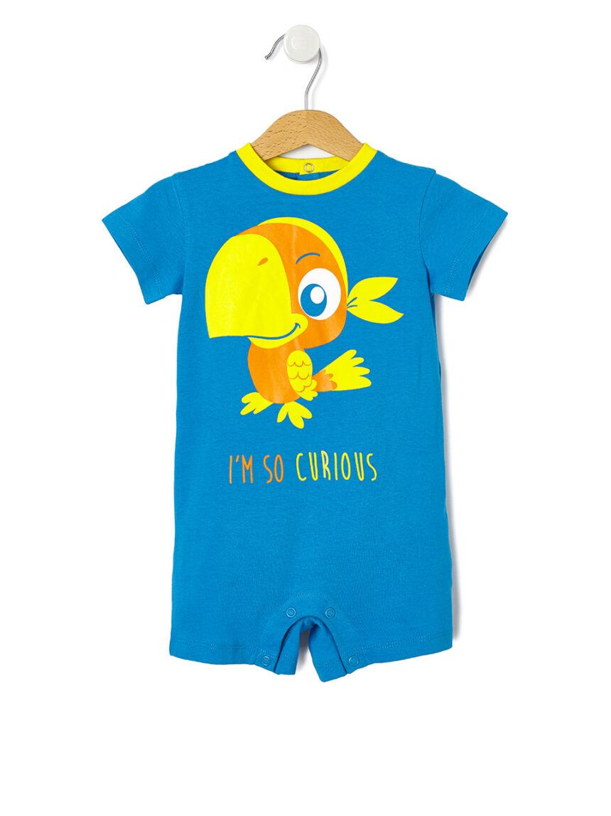 Pijama com estampa de papagaio - Prénatal