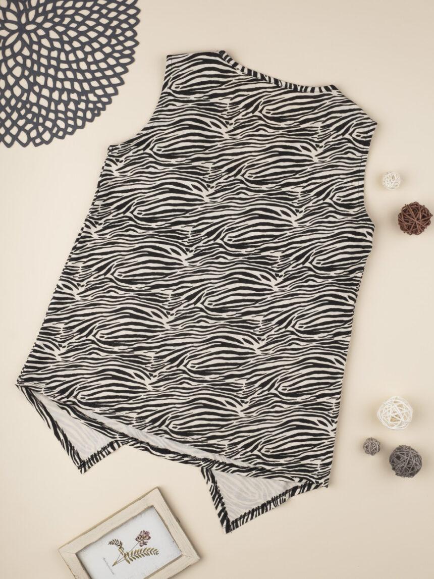 Camiseta de alças de enfermagem com estampa de zebra - Prénatal