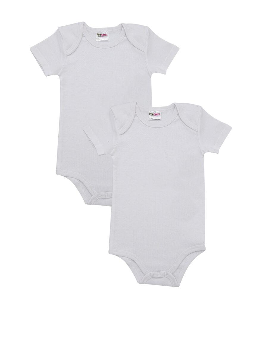 Pacote de 2 bodysuits brancos com decote americano - Prénatal