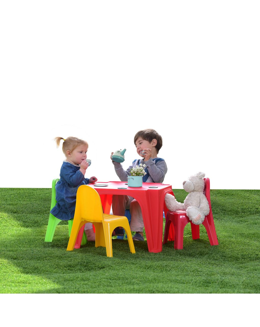 Sol e esporte - sentar e jogar conjunto 1 mesa e 4 cadeiras - Prénatal, Sun&Sport