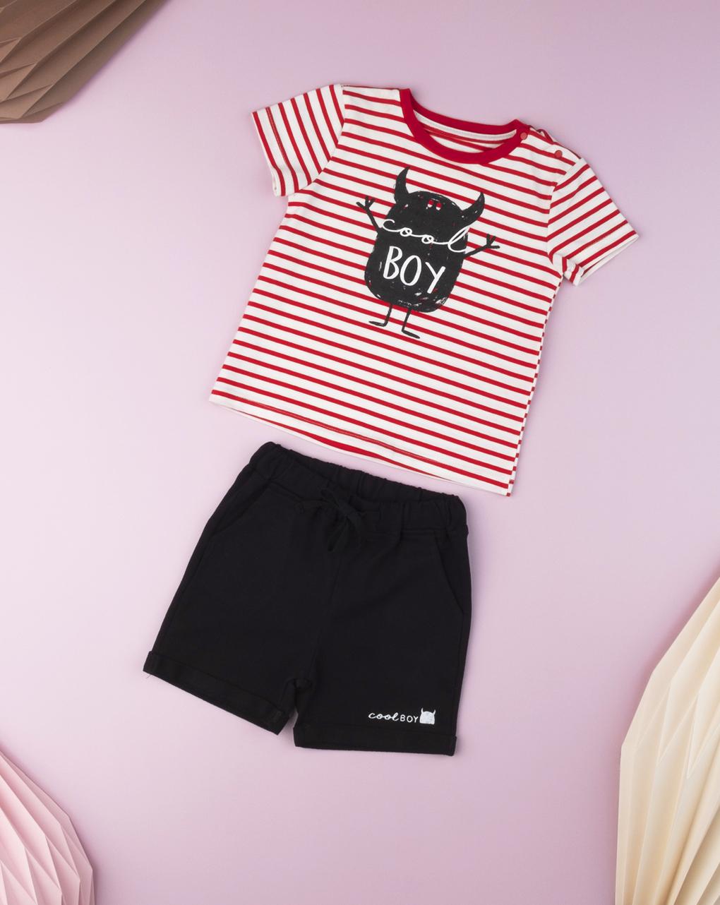 """Camiseta do """"diabo vermelho"""" bebê menino - Prénatal"""