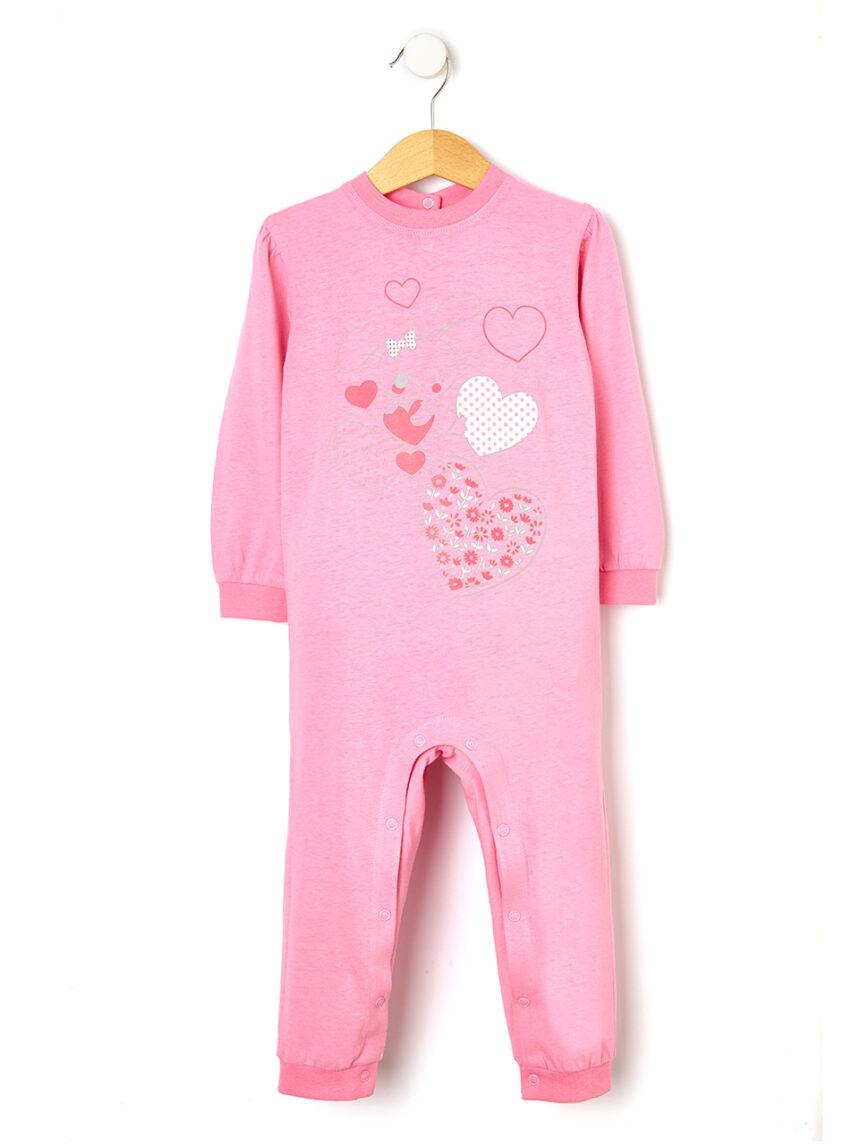 Pijama com estampa de coelho - Prénatal