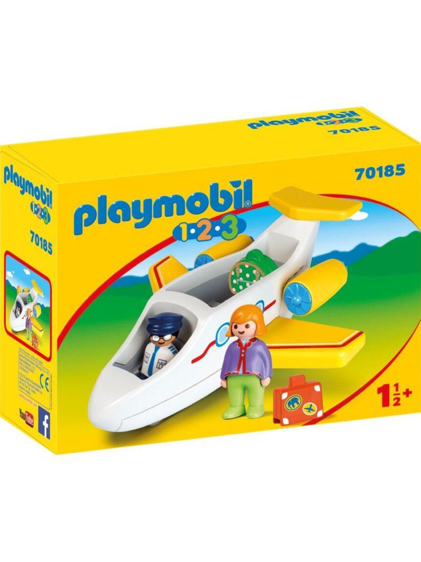 Playmobil - avião de passageiros 1.2.3 - Playmobil
