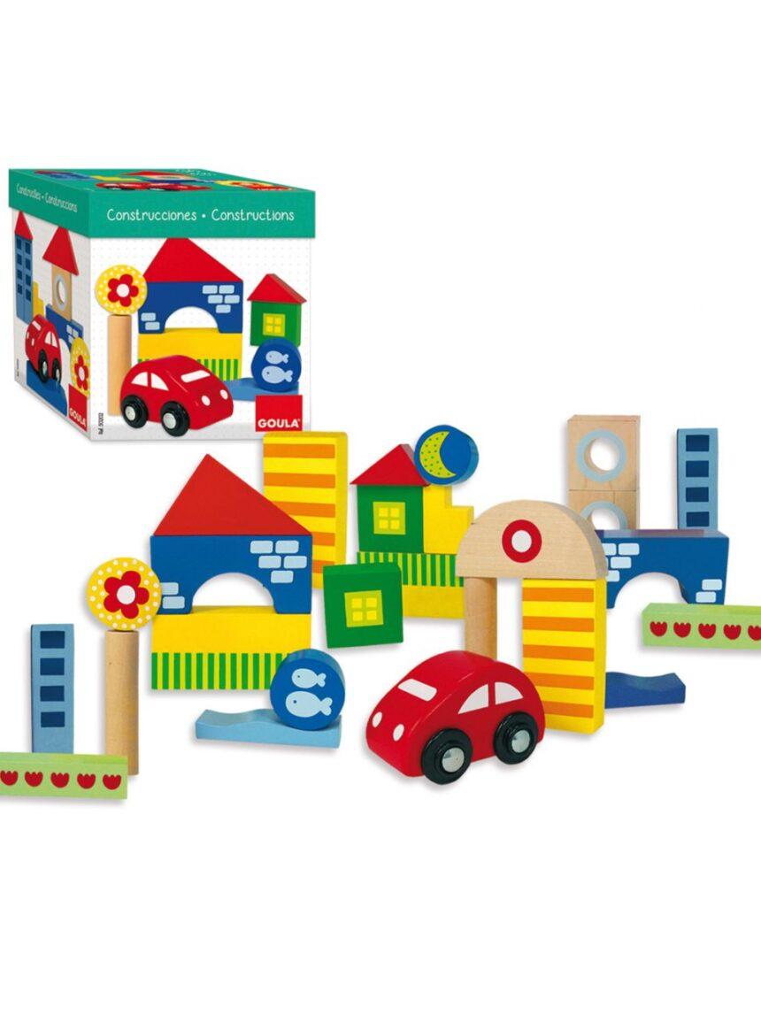 Goula - caixa de construção 25 unid. + carro - Goula