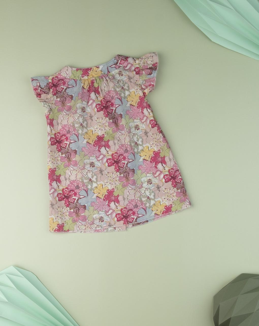 """Camiseta infantil """"flor doce"""" em tecido liberty - Prénatal"""