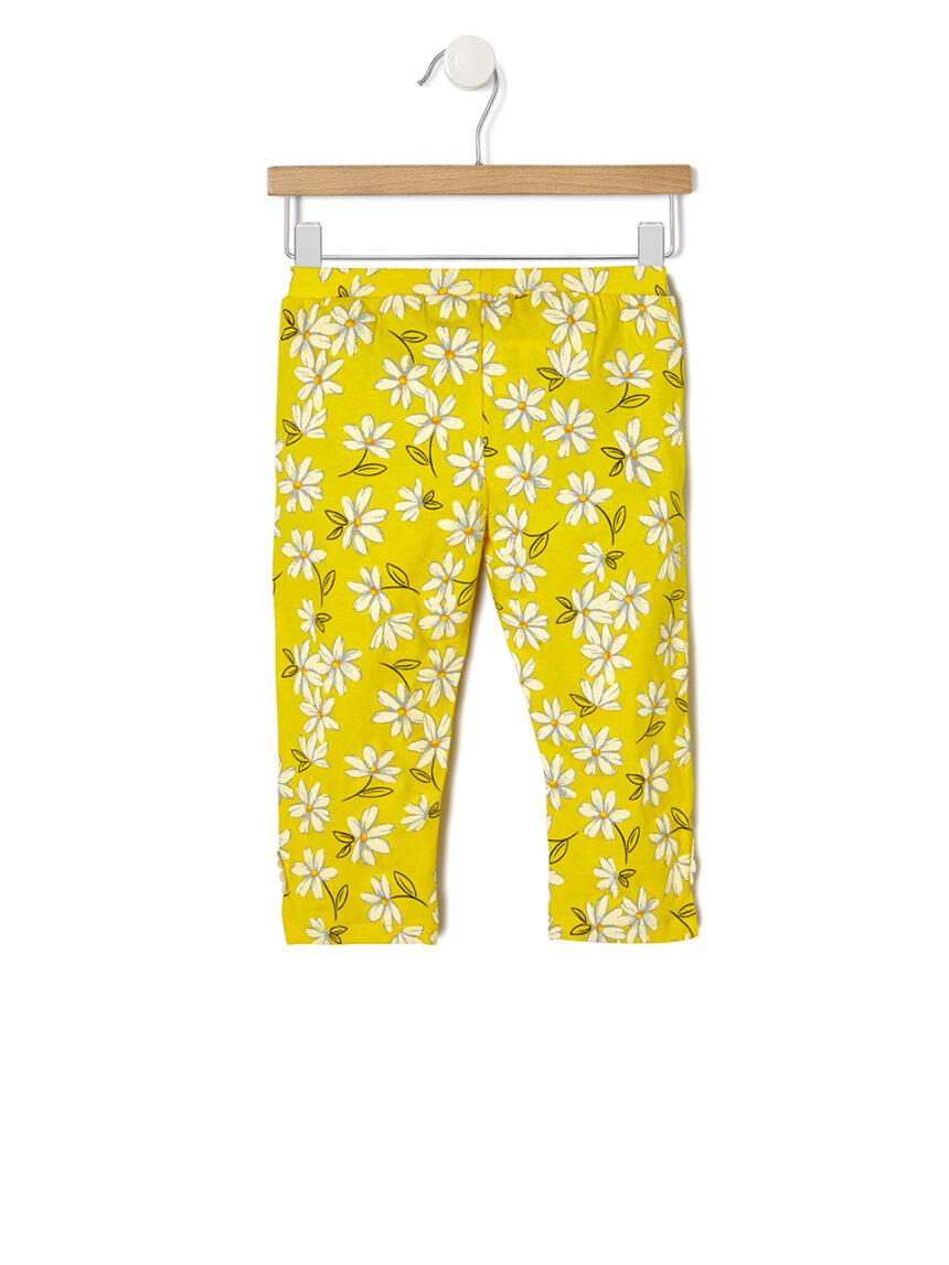 Leggings 3/4 com estampa floral - Prénatal