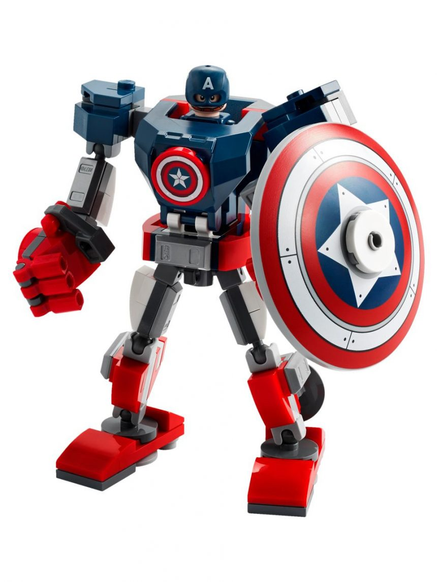 Super-heróis lego - armadura mech do capitão america - 76168 - LEGO