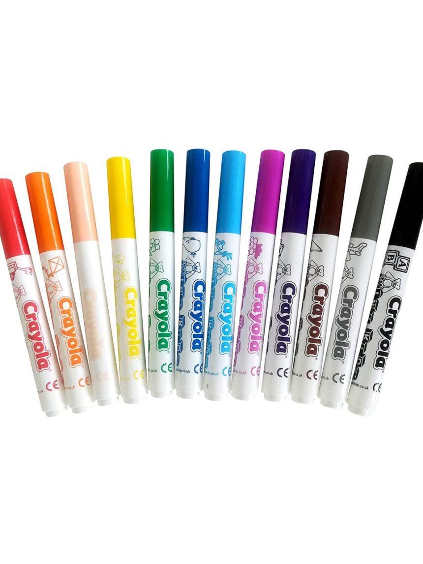 Crayola - 12 mini cores de fibra infantil - Crayola