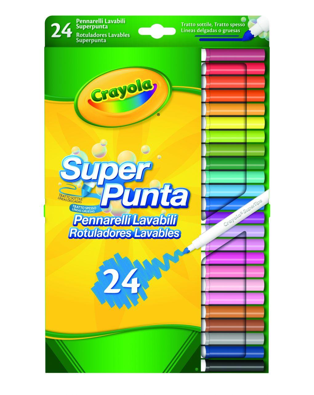 Crayola - 24 cores de fibra super-ponta - Crayola