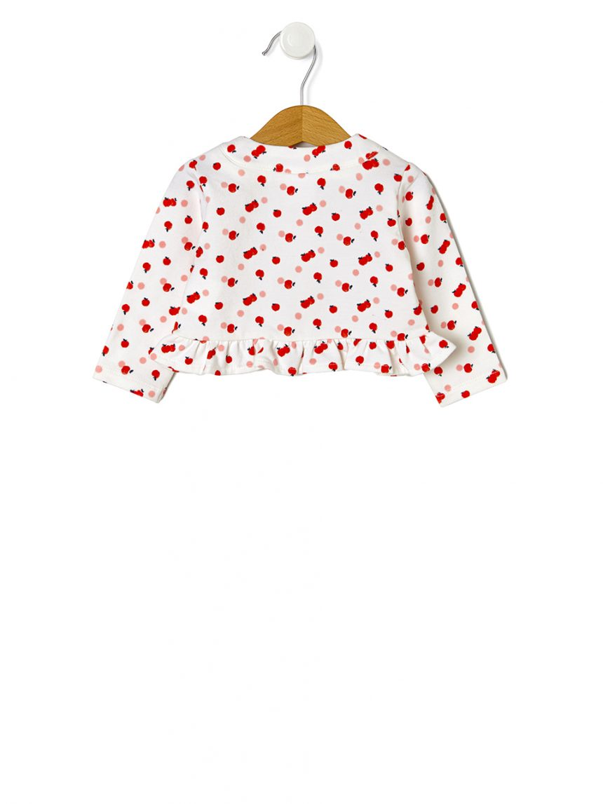 Cardigã de lã com estampa allover apple - Prénatal